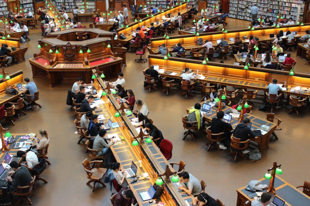 Students studying at La Trobe University