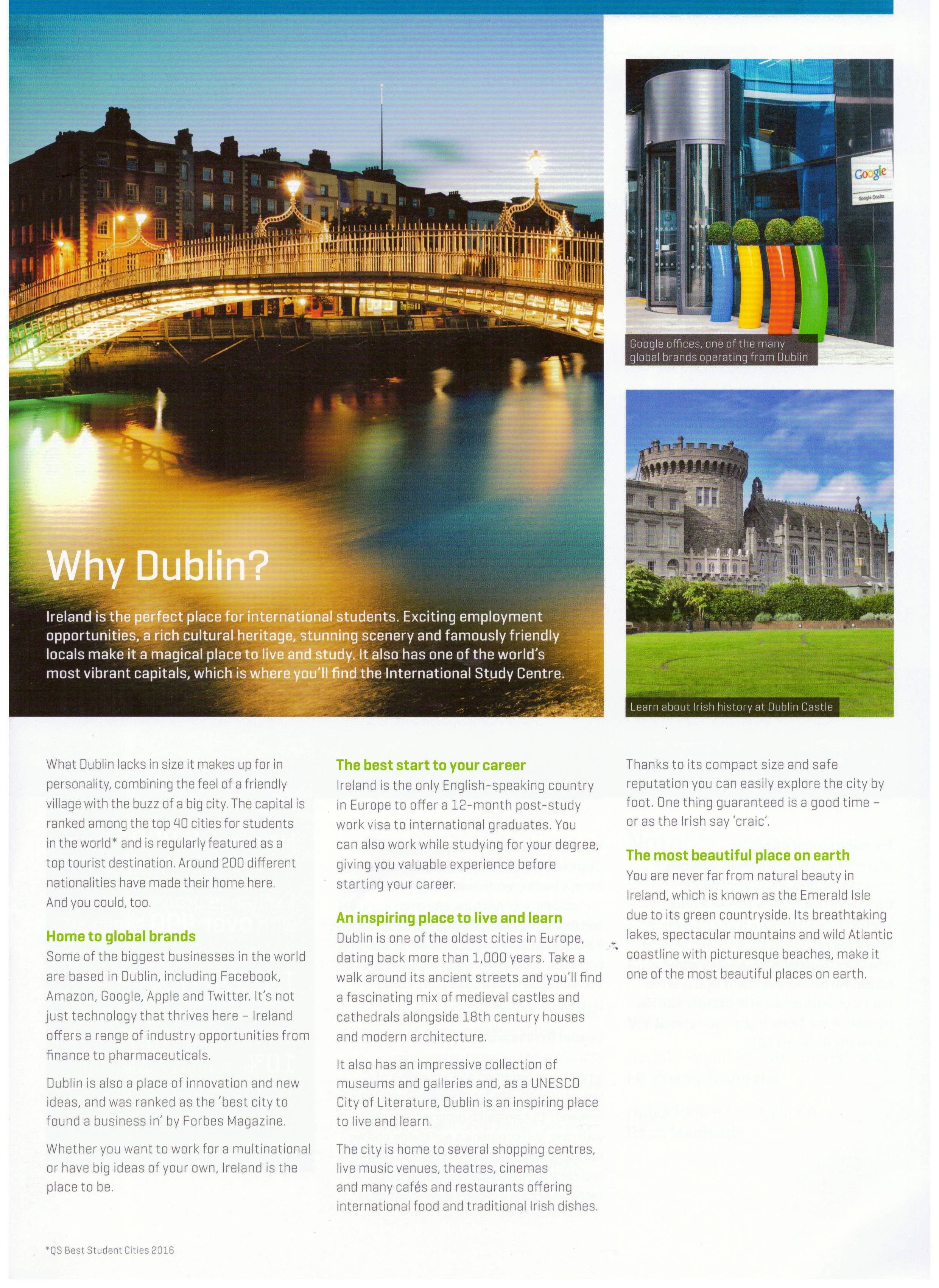 Why Study in Dublin?