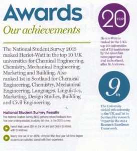 Heriot Watt University Awards