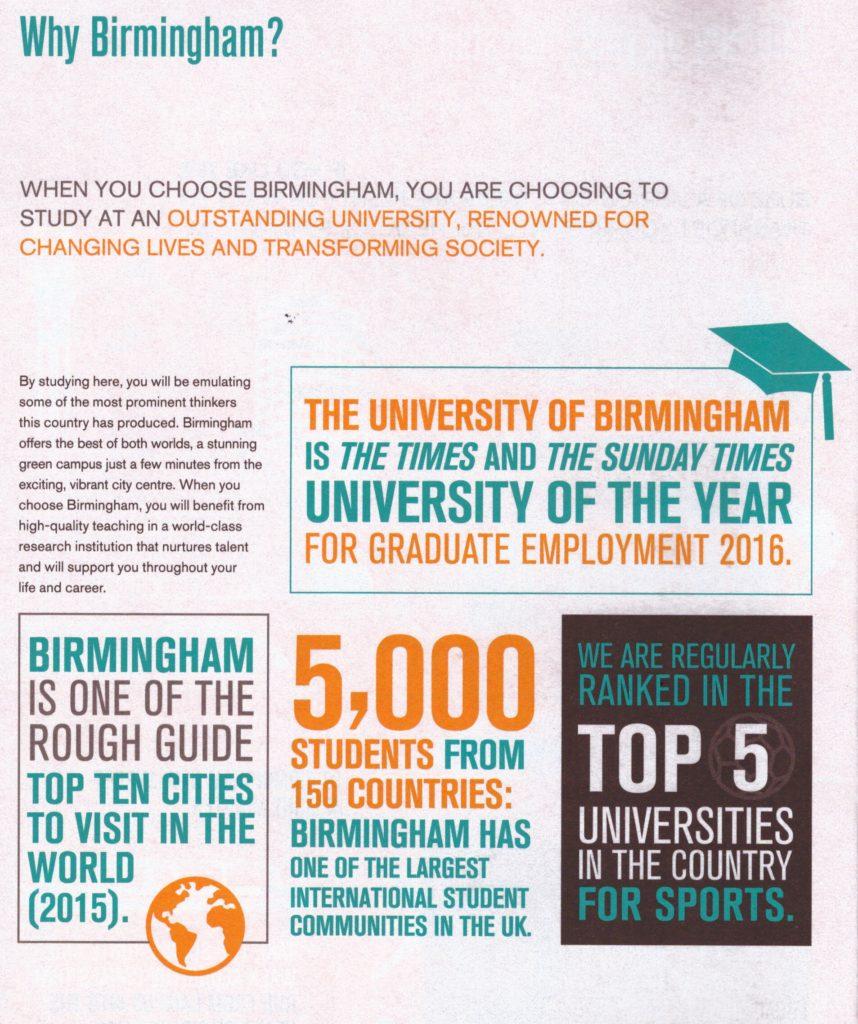 Why University of Birmingham?
