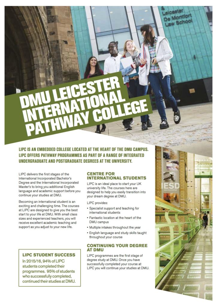 About Leicester International Pathway College