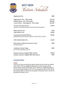 FCS 17-18 Intl Tuition