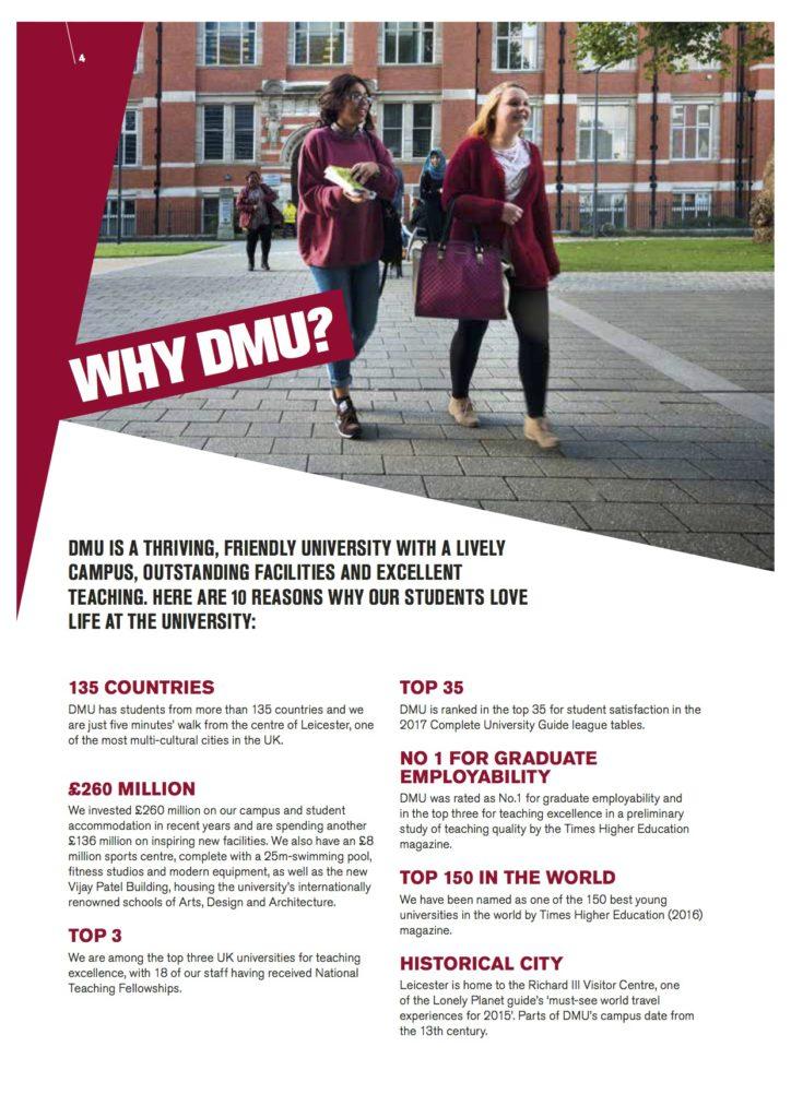 Why De Montfort University?