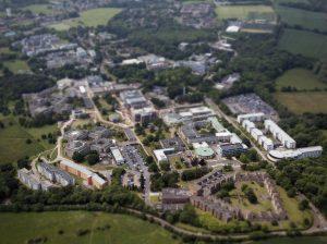 university of kent campus aerial