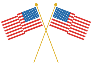 community college usa flag